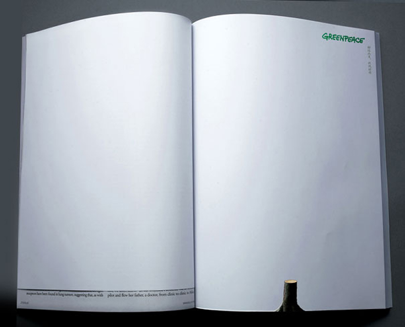greenpeace clever print ad