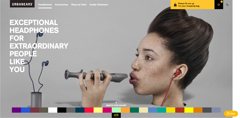 urbanears colorful website