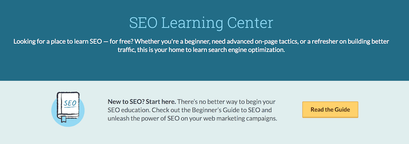 moz seo learning center digital marketing resource