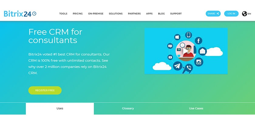 bitrix 24, free crm for consultants